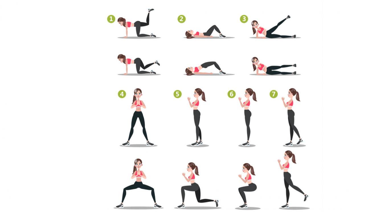 Infographie Les Meilleurs Exercices Pour Muscler Les Fessiers