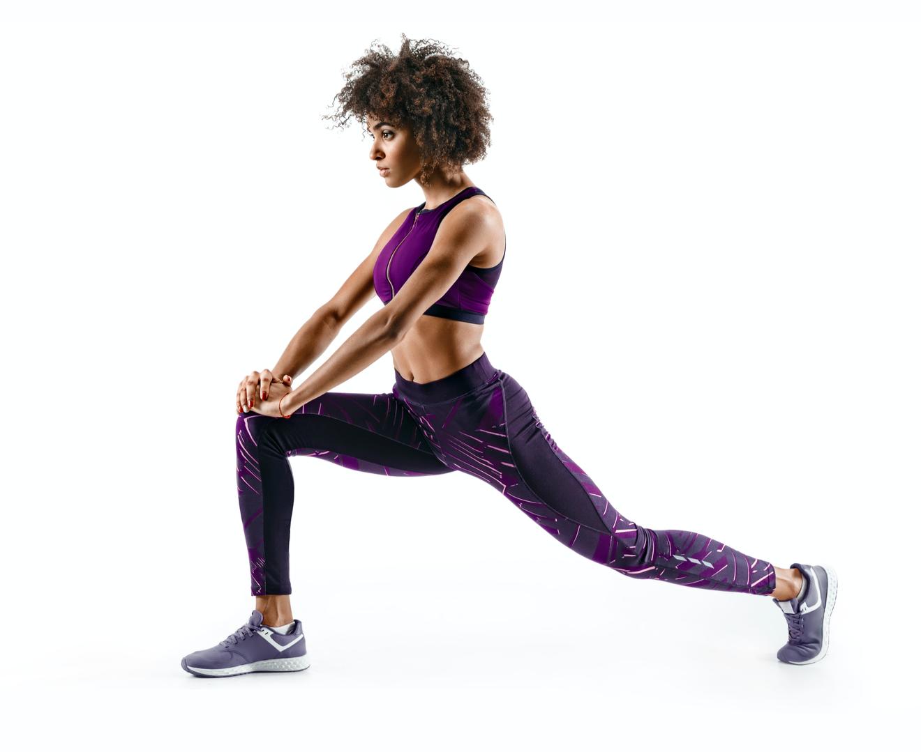 Femme S'étirant Et Faisant Des Excercices De Stretching
