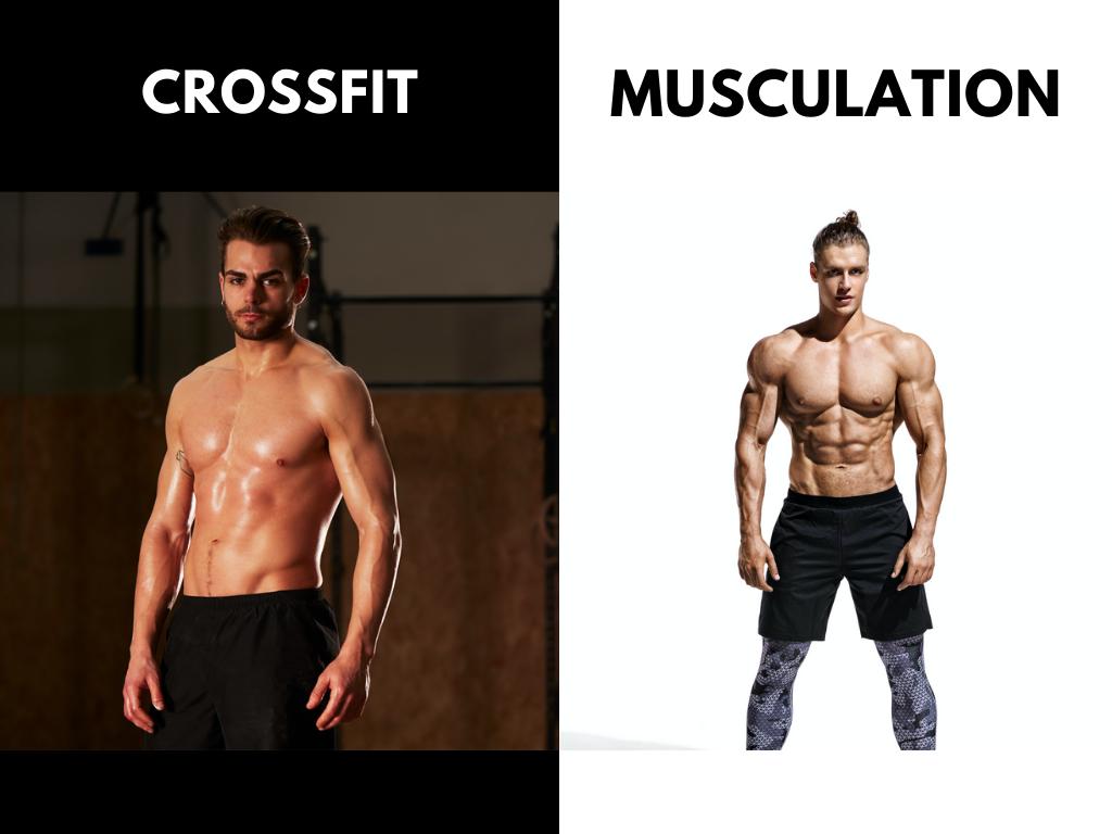 Différents Corps Avec Le Crossfit Et La Musculation