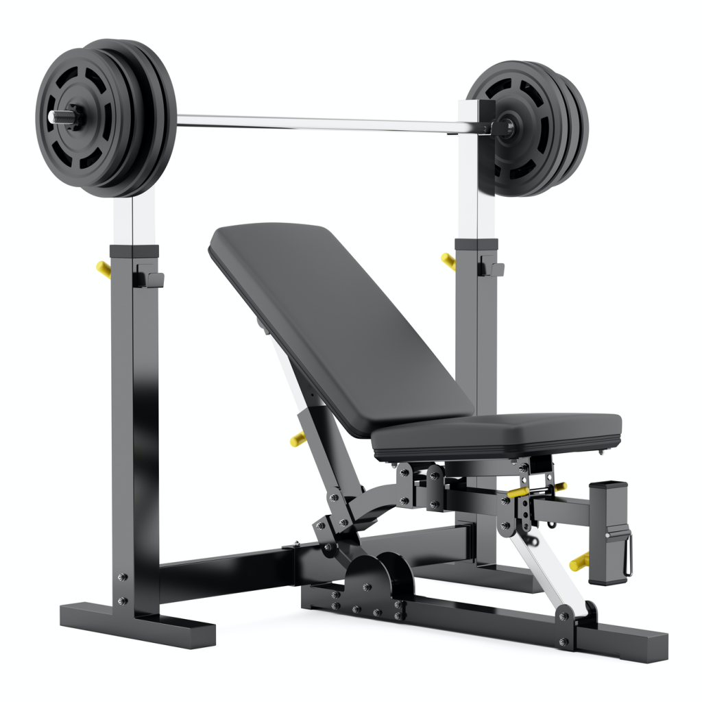 Banc De Musculation Réglable Avec Haltères Isolées